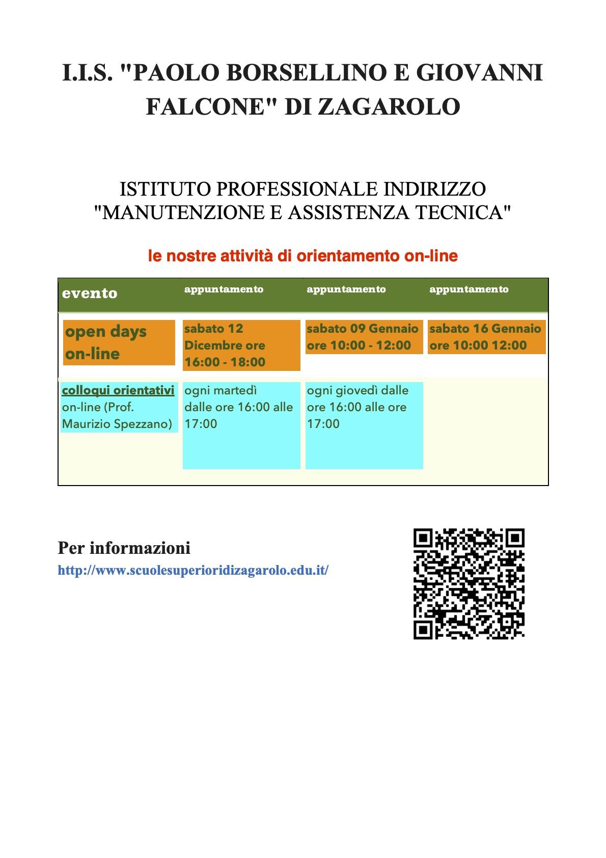 Orientamento in Entrata - IPIA